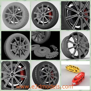 3d model the tire of the Lounge car - This is a 3d model of the tire of the Lounge car,which is the famous brand in Italy and the materials of the tire are special and outstanding.