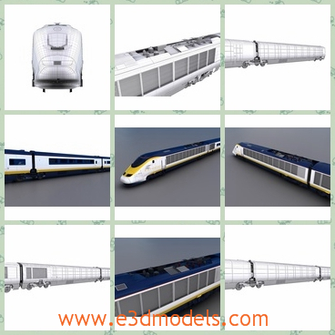 3d model the train with passengers - Share and Download 3D Models at