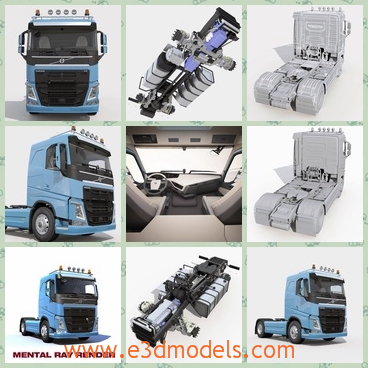 3d model the truck in 2013 - This is a 3d model of the truck in 2013,which is the large and modern type.The trucks were created with the V-Ray1.
