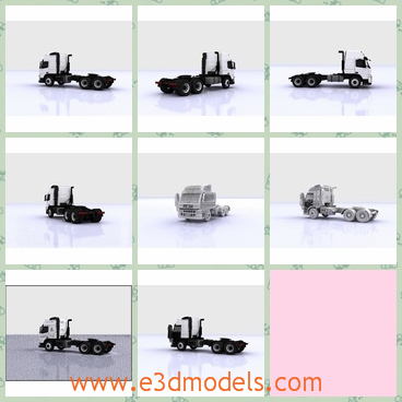 3d model the truck of Sweden - This is a 3d model of the truck of Sweden,which is white and large.The truck can be converted to any other format you may like.