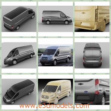 3d model the van in 2014 - This is a 3d model of the van in 2014,which is regular and long and popular.The model's  long- detailed exterior, simple interior.- every object has material name, you can easily change or apply materials.