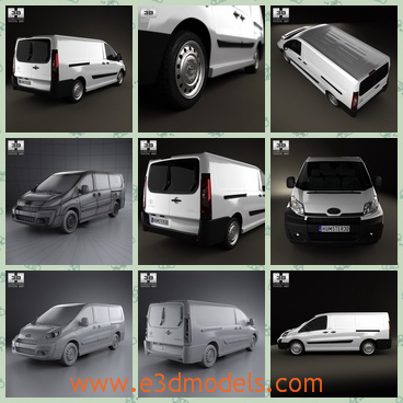 3d model the van in Toyota - This is a 3d model of the van in Toyota,which is te minivan and large and the car is popular amongst the world.