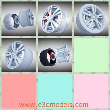 3d model the wheel of the car - This is a 3d model of the wheel of the car,which is solid and special to the car.