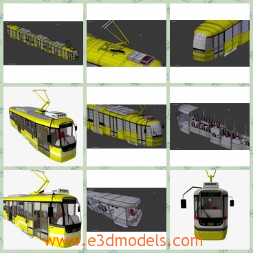 3d model the yellow train - This is a 3d model of the yellow train,which is also called the streetcar for a while.The color is so charming in the street.
