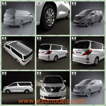 3d model toyota - This is a 3d model of a car named Toyota made in Japan.The body of the car is long and seems luxury,the spacious room is available.