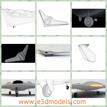 3d models of RQ170 Sentinel Drone - These are 3d models of the RQ170 Sentinel Drone which is a large white aircraft.Due to high details and procedural materials, they are good for closeup renders