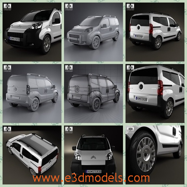 3dmodel the minivan of Citroen - This is a 3d model of the minivan of Citroen,which is a brand in French and the car is famous around the world.The model was made in 2011 and the car is popular in the world.