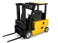 3d model a forklift in black and yellow