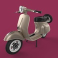 3d model a motorbike with three tires