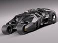 3d model of Batmobile