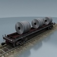 3d model the cargo train with cargos