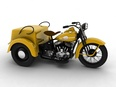 3d model the classic motorcycle