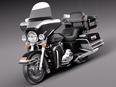 3d model the classical motorbike