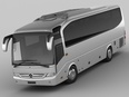 3d model the coach with four wheels