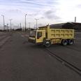 3d model the dump truck in yellow
