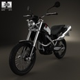 3d model the motorcycle of BMW