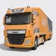3d model the orange truck