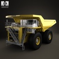 3d model the truck in yellow