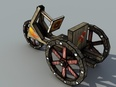 3d model the wooden tricycle