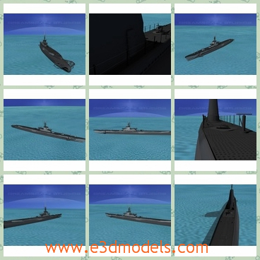 3d model the ship of army - This is a 3d model of the ship in army,which served in WWII after 1942 and were successful in combat. The earlier boats were powered by 2 diesel engines and four electric motors.