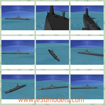 3d model the submarine - This is a 3d model of the submarines,which served in WWII after 1942 and were successful in combat. The earlier boats were powered by 2 diesel engines and four electric motors.