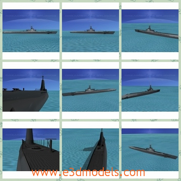 3d model the submarine - This is a 3d model of the submarine,which is the attacker in the war and the ship is long and large.