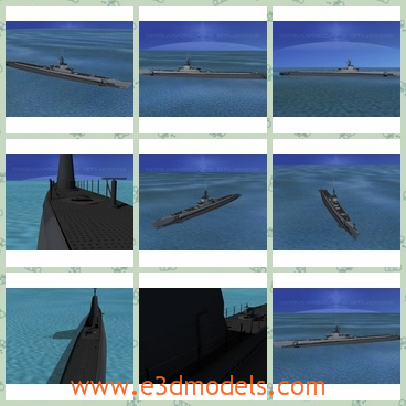 3d model the submarine of USA - THis is a 3d model of the submarine,which served in WWII after 1942 and were successful in combat. The earlier boats were powered by 2 diesel engines and four electric motors.