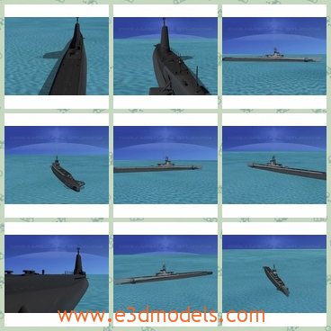 3d model the warship of USA - THis is a 3d model of the warship of USA,which is powerful and the earlier boats were powered by 2 diesel engines and four electric motors.