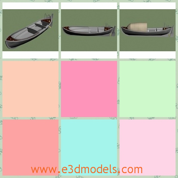 3d model the whale boat - This is a 3d model of the whale boat,which was used on US destroyers and other ships as a lifeboat and ship-to-shore transport. It could carry 22 men with a range of 110 nautical miles .