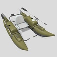 3d model the boat with oars
