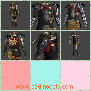 3d model a black armor - This is a 3d model of a black armor.Every piece of the armor is modeled with polys and nurbs.And the textures which were used to create the results seen in the preview images.