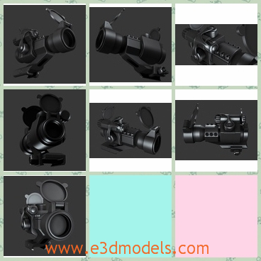 3d model a camera in black - This is a 3d model about a camera in black,which is a high detailed model of Aimpoint's Comp M2.