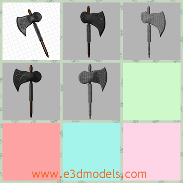 3d model an axe - This is a 3d model of an axe,which can be used in any kind of games like MMO or RPG style games.