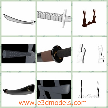 3d model of Samurai Katana with case and stand - This is a 3d model of Samurai Katana with case and stand.This knife is made of fine steel with keen blade. It is a high poly model good for closeup renders.