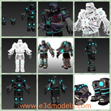3d model the body with armor - Share and Download 3D Models