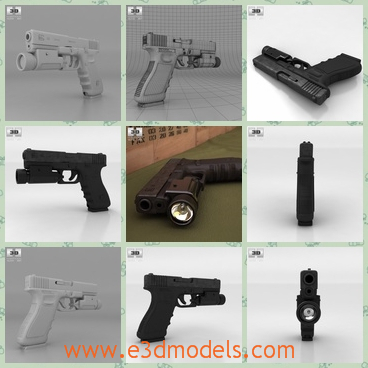 3d model the gun - This is a 3d model of the gun,which is the autonomatic one and the gun is black,which looks so cool and charming.