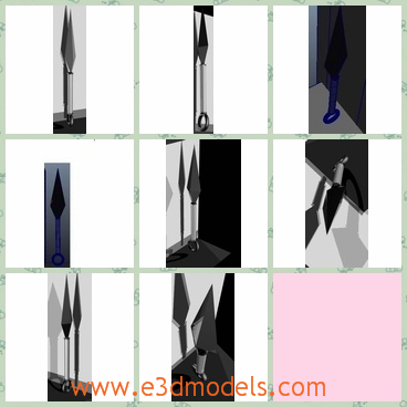 3d model the knife - This is a 3dmodel of the knife,which is the stuff of Asian countries.The knife can be uses as the weapons.