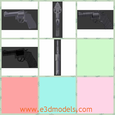 3d model the pistol in black - This is a 3d model of the handgun,which is a weapon in the American's life.The model is dangerous but popular.