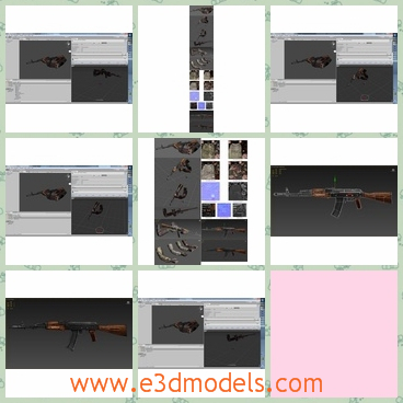 3d model the rifle - This is a 3d model of the rifle,which is long and it can be used as the protect weapon for oneself.