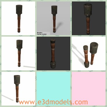 3d model the stick grenade - Share and Download 3D Models at