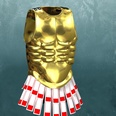 3d model a chestplate with shining materials