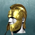 3d model the golden helmet